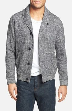 Grayers Trim Fit French Terry Shawl Collar Cardigan available at #Nordstrom