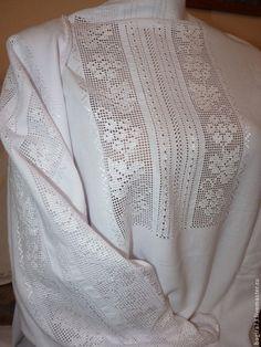 needle embroidered folk blouse