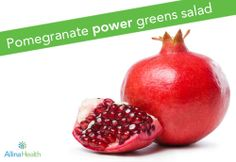 Pomegranate power greens salad:       This salad is an excellent (and tasty) way to get two of the five recommended daily servings of fruits and vegetables. #recipe   #heartsmart   #glutenfree   #lowsodium