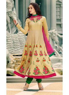 Buy Alluring #Beige #Anarkali #Salwar Kameez Set from http://www.maalpani.com/alluring-beige-anarkali-salwar-kameez-set.html
