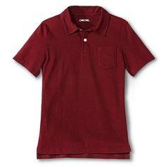Boys' Jersey Polo - Deep Red