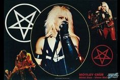 Motley Crue  Color  Rare Vintage Poster by VintagePosterPlace