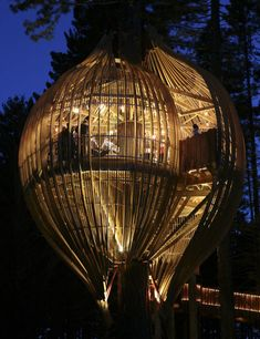 Yellow Tree House   - Unique And Creative Tree Houses