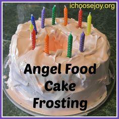 Angel Food Cake Frosting Recipe Angel Food Cake Frosting Recipe, Best Frosting Recipe, Frosting Recipes, Angle Food Cake Recipes, Best Dessert Recipes, Desserts, Yummy Recipes, Healthy Recipes, Angel Cake
