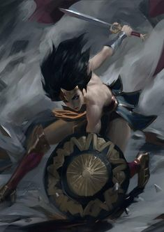 "Wonder Woman by Sean ""Raiko"" Tay – Marvel Comics Wonder Woman Art, Wonder Women, Marvel Dc, Marvel Comics, Silk Marvel, Comic Books Art, Comic Art, Fanart, Dc Comics Art"