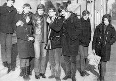 Beatniks in duffle coats