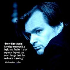 Film Director Quote - Christopher Nolan - Movie Director QuoteYou can find Christopher nolan and more on our website. Filmmaking Quotes, Nolan Film, Organizing Hacks, Fritz Lang, Film Inspiration, Film School, Film Quotes, Sad Quotes, Motivational Quotes