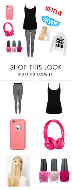 """""""Chill"""" by kpantz on Polyvore featuring Topshop, M&Co, LifeProof, Apple, Orelia, OPI and WearAll"""