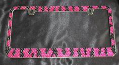 Luxury Handcrafted Bling Vehicle License Plate Frame for US Vehicles Faith Hope Love License Plate Tag Frame Aluminum Bling License Plate Frame License Plate Covers & Frames