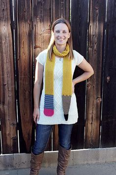 The Sinuous Pencil Scarf is neckwear designed to look like a pencil. It is a perfect gift for teachers, artists, or anyone who wants an interesting piece of apparel. Teacher Style, Teacher Wear, Teacher Clothes, Teacher Outfits, Teacher Gifts, Crochet Quilt, Knit Crochet, Crochet Hats, Crochet Scarves