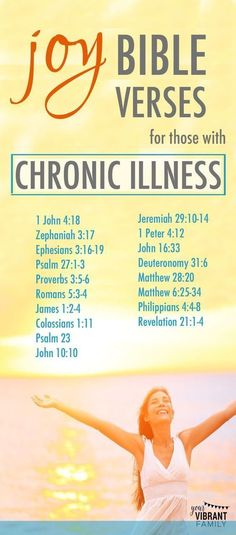 Verses to find joy when you're dealing with chronic illness! #chronicmigraine
