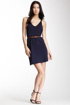 So Fine Belted T-Back Dress