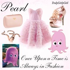 Disney Style: Pearl, created by trulygirlygirl Disney Prom Dresses, Disney Character Outfits, Disney Dress Up, Disney Themed Outfits, Disney Inspired Fashion, Character Inspired Outfits, Disney Bound Outfits, Disney Fashion, Disney Clothes