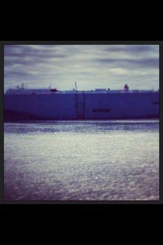 Huge boat! Saint simons island pier