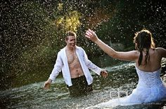 Interesting wedding picture - at the river