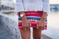 A Glam Lifestyle - Mykonos Town Kooreloo clutch