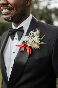 Groom's Wedding Boutonniere at The Cummer Museum of Art & Gardens in Jacksonville, Florida Wedding Outfits For Groom, Wedding Groom, On Your Wedding Day, Wedding Attire, Perfect Wedding, Summer Wedding, Boutonnieres, Wedding Boutonniere