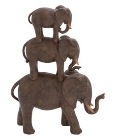 Loving this 14'' Resin Elephant Stack on #zulily, $22 !!  #zulilyfinds