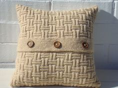 Decorative pillow Valentine gift knitted pillow by OlgaArtShop, $85.00