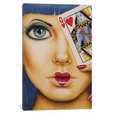 iCanvas Queen Of Hearts Gallery Wrapped Canvas Art Print by Scott Rohlfs Art Beat, Heart Canvas, Heart Art, Illustrations, Illustration Art, Arte Pop, Queen Of Hearts, Pics Art, Love Art