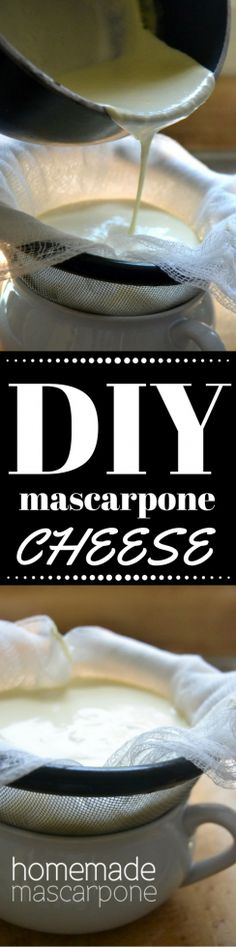 Creamy homemade mascarpone cheese is easy to make right in your own kitchen, and you can use it in all sorts of recipes, both sweet and savory! ~ theviewfromgreatisland.com