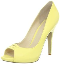 Nine West Women's Fastazyou Peep-Toe Pump,Light Yellow Leather,8.5 M US - [ Please Visit http://handbags.apparelique.com/shoes/nine-west-womens-fastazyou-peep-toe-pumplight-yellow-leather8-5-m-us/ For Price And Shipping Information] #Shoes