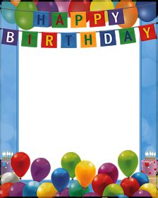 Happy Birthday Transparent PNG Blue Frame (With images) Birthday Party Clipart, Happy Birthday Blue, Happy Birthday Printable, Happy Birthday Frame, Birthday Charts, Happy Birthday Celebration, Happy Birthday Pictures, Birthday Frames, Happy Birthday Messages