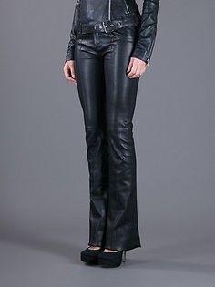 Black Flared Leather Pants Nappa Lambskin Loose cut. Love these pants