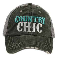 Katydid Country Chic Blue Hat designed by Katydid trucker caps have curved bill adjustable tab with mesh back distressed cap gives it a worn look cotton and polyester made in USA one size fits most Fashion Boots, Sneakers Fashion, Fashion Rings, Southern Shirt Company, Cute Hats, Country Chic, Country Hats, Ladies Boutique, Hats For Women
