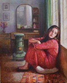 Miss my love jano i love you so much Sathi darling Art Village, Cartoon Kunst, Cartoon Art, Art And Illustration, Girly Drawings, Art Drawings, Fantasy Kunst, Fantasy Art, Arabian Art