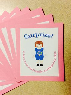 Daisy scout Sunny Petal project: do a good deed and leave a special calling card behind. Girl Scout Daisy Petals, Daisy Girl Scouts, Girl Scout Troop, Girl Scout Daisy Activities, Girl Scout Crafts, Calling Cards, Fun, Brownie Ideas, Service Projects