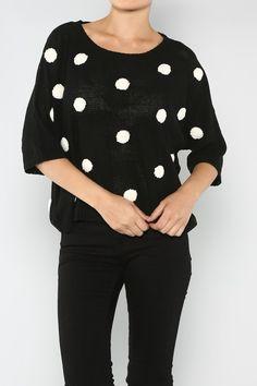 Polka Dot Top #Fall #Fashion #Shop #wholesale #polkadots #dots #ootd #wiwt #Clothing #WOTD