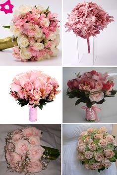 Bouquet de noiva rosa claro