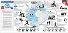 The map above summarizes the recent history of U.S. policy toward Latin America…