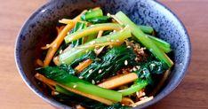 【常備菜】シャキ旨♪小松菜と人参のナムル by まま応援YURIKO 【クックパッド】 簡単おいしいみんなのレシピが323万品 Seaweed Salad, Ethnic Recipes, Food, Essen, Meals, Yemek, Eten