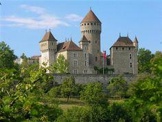 Chateau de Montrottier - au-dessus des gorges du Fier, Lovagny, Haute Savoie, Rhone Alpes