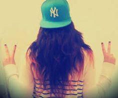 This SOOO BEATİFUL HAIR AND CAP <3 #Cap #NewYork #NY #I<3NY