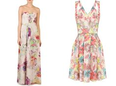 Floral Print Bridesmaid Dresses- the one on the left is a Ted Baker