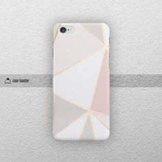 Geometric rose gold phone case. All of our products are made by 3D vacuum sublimation technology. 3D vacuum machine and special film allows to wrap the design around the top, bottom and each sides of the case. The end result of the sublimation process is a nearly permanent, high
