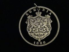 ROMANIA  1880  cut coin jewelry  SILVER  FiRST by LazyCatCutCoins
