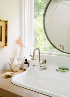 Bright and white sink