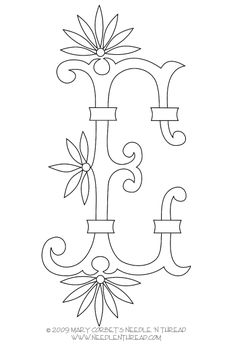 Free Monogram for Hand Embroidery: Letter E. Great!