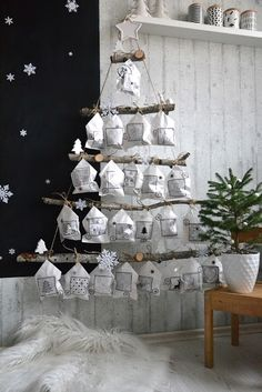 ♡ DIY Log Advent Calendar