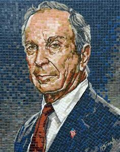 Mayor Bloomberg mosaic portrait by Harjeet Singh Sandhu