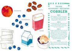 Salted Blueberry & Nectarine Cobbler from Hillary Kerr, yummmm!