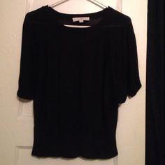 Sweater Black viscose and silk LOFT Sweaters Crew & Scoop Necks