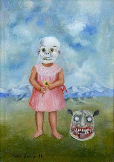 Frida Khalo: Niña con máscara de muerte