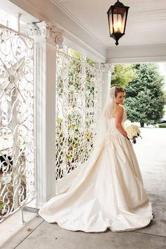 Garden Wedding Fashion   Gambill Photography #bridalportrait #cjsoffthesquare