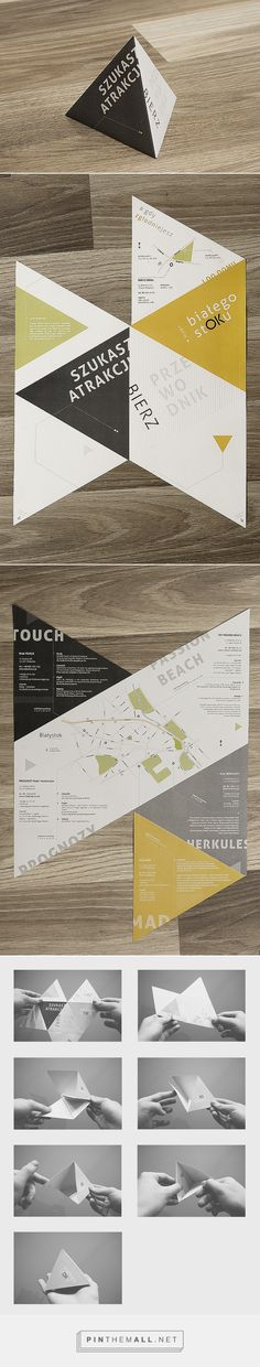 Bialystok clubs - folding leaflet on Behance