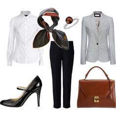 White shirt for business casual attire